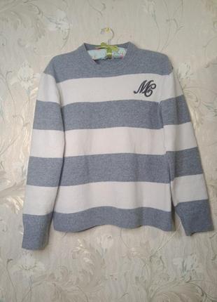 Теплий базовий светр в смужку