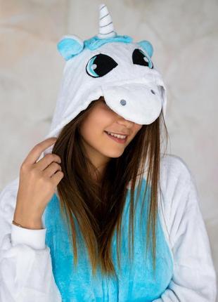 Кигуруми - пижама пегас голубой единорог