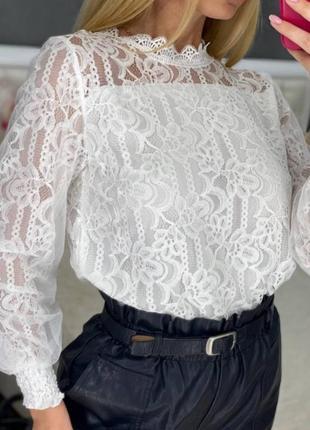 Блуза ажур3 фото