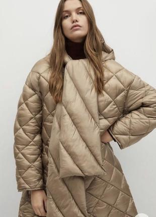 Пальто пуховик куртка длинная стеганая mango оригинал