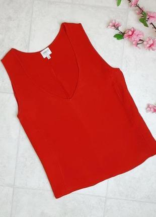 1+1=3 шикарная красная блуза блузка топ armani collezioni, размер 48 - 50