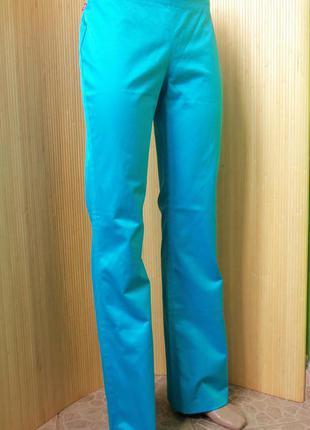 Лазурные джинсы с боковой молнией levis2