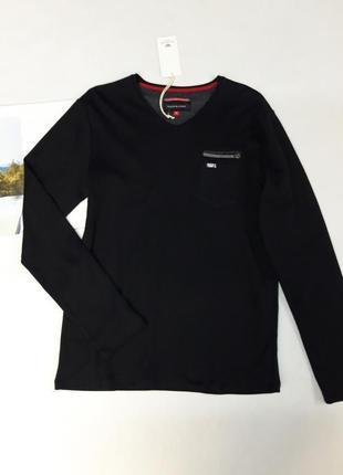 Черная футболка,  лонгслив benson&cherry размер  м