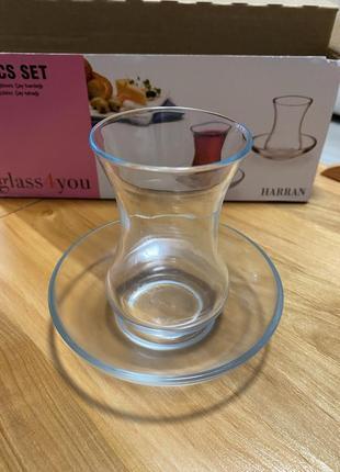 Набор турецких стаканов для чаепития,армуды