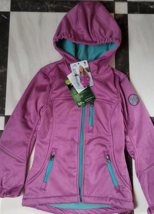 Куртка софтшел вітрівка, дощовик pocopiano ветровка 116, 128, 152