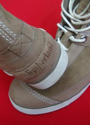 Ботинки timberland натур нубук оригинал 37 размер