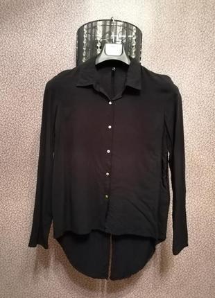 Прикольная рубашка с удлиненной спинкой фрак