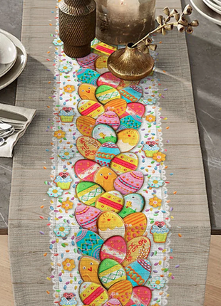 Дорожка на стол пасхальный декор 50*140 см
