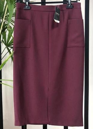 Новая женская юбка миди карандаш # papaya
