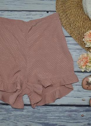 10/м женские натуральные легкие шорты шортики с рюшами высокой посадкой river island