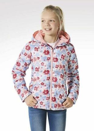 Тепла легка куртка для дівчаток pepperts 146, 152