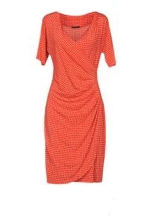 Cappellini шикарное платье италия, люкс бренд, вискоза, платье миди, яркое платье
