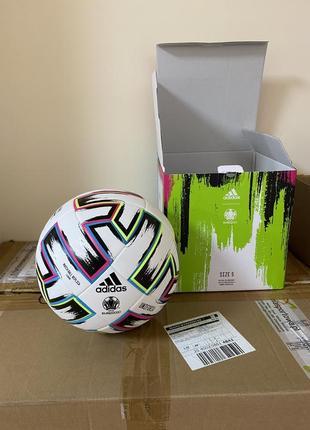 Мяч футбольный adidas uniforia league euro 2020 №5 fh7376 белый