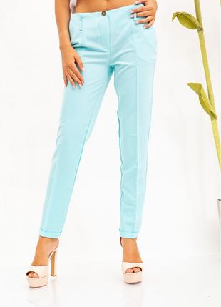 Стильные женские брюки мятного цвета 115r48-26