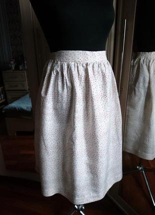 Шелковая юбка , натуральный дикий шелк чесуча