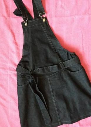 Джинсовый сарафан для беременных+джинсы