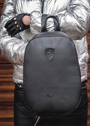 Новый черный женский рюкзак среднего формата
