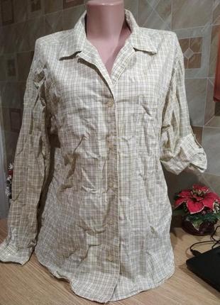 Хлопковая рубашка в клетку suffit