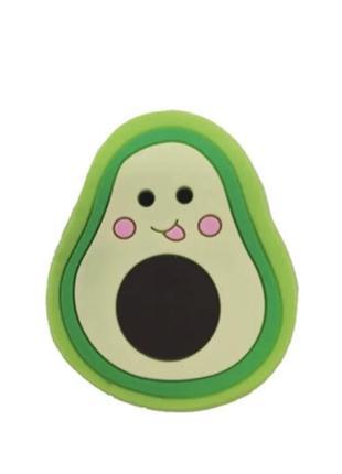 Держатель для телефона/планшета силиконовый popsocket avocado {авокадо} зеленый