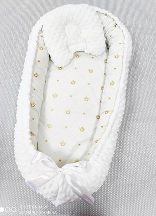 Кокон гнёздышко позиционер с ортопедической подушкой для новорождённых 🎉