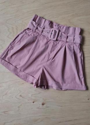 Стильные   шорты  короткие с поясом   primark