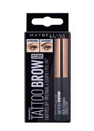 Тинт для бровей maybelline new york tattoo brow gel-tint