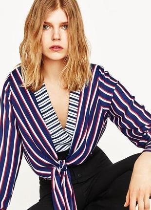 Шикарное боди блуза в полоску
