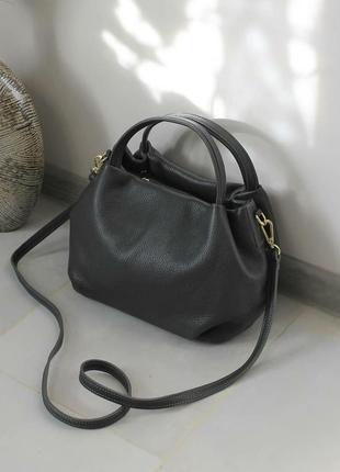 Шикарная кожаная сумка (италия)