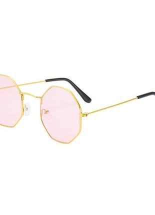 Модные новые  солнцезащитные очки с многоугольными линзами, восьмиугольные