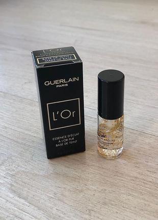 Новая оригинальная основа флюид под макияж guerlain с частицами золота герлен