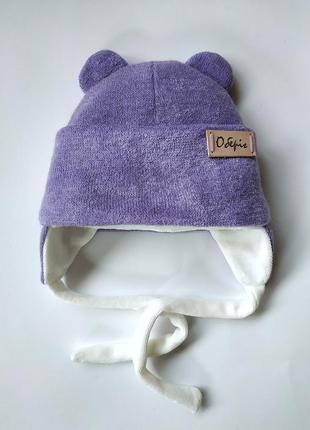 Зимняя,деми шапка с рождения