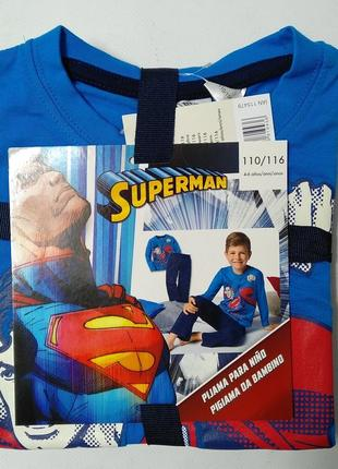Коттоновая пижама для мальчика кофта и штаны супермен superman lupilu