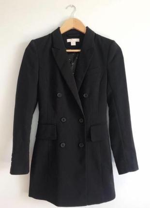 Классический чёрный пиджак/жакет женский h&m