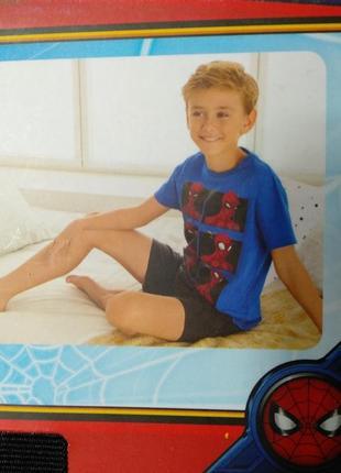 Хлопковая пижама для мальчика футболка и шорты спайдермен spider-man lupilu
