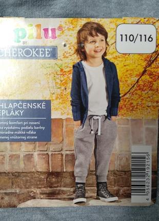Спортивный штаны на тонком флисе для мальчика lupilu 110/116см