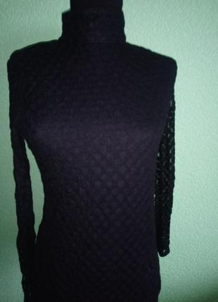 Блуза черная с гирюровыми рукавами