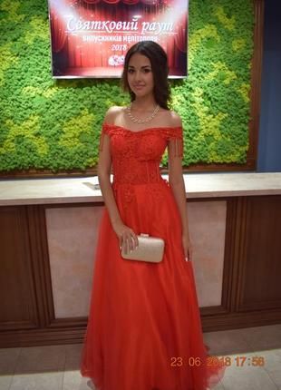 Шикарное, нарядное, бальное, красивое выпускное вечернее платье
