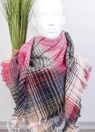 Шарф шарфик платок теплый тёплый теплий в полоску полосатый красивый модный стильный
