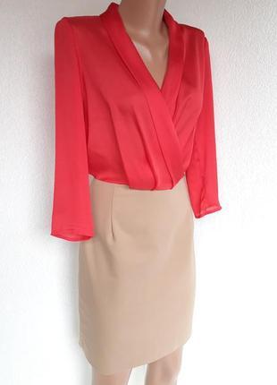 Комбинированное платье от mango