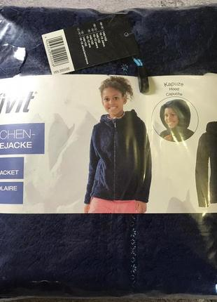 Тепла флісова кофта з капюшоном на дівчинку.