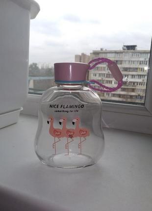 Стеклянная бутылочка flamingo