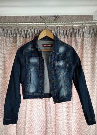 Укорочённый джинсовый пиджак