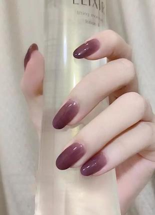 Бордовые накладные ногти типсы градиент