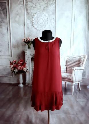 Нарядное платье вишня бордо красное