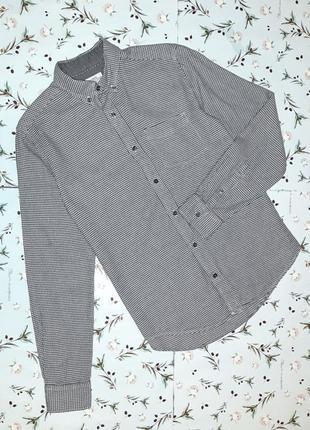 🎁1+1=3 фирменная плотная мужская рубашка сорочка с длинным рукавом next, размер 42 - 44