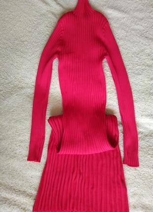 Красное платье резинка h&m