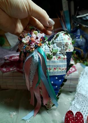 Валентинка сердечко ручной работы