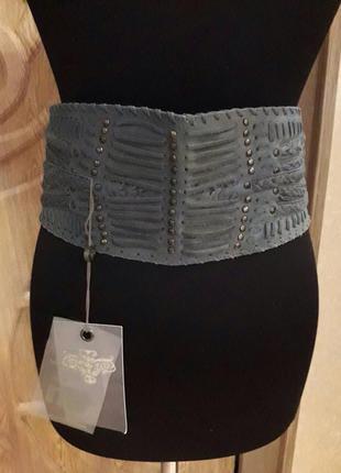 By staff-woman пояс кожаный, комбинированный