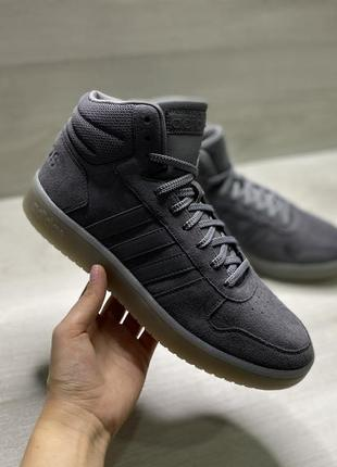 Оригінальні чоловічі кросівки adidas hoops 2.0 mid