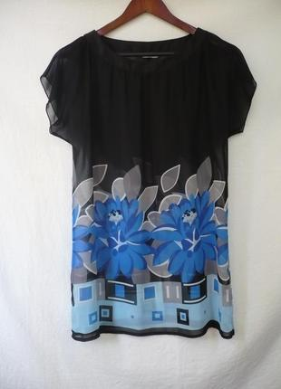 Блуза шифоновая цветочный принт